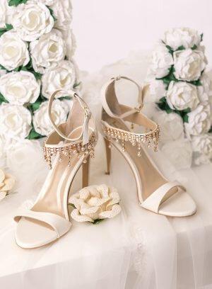 Sandália de Noiva Salto Alto