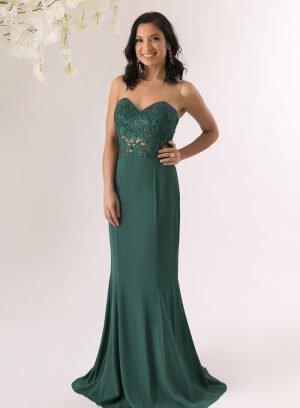 Vestido de cerimónia cor verde