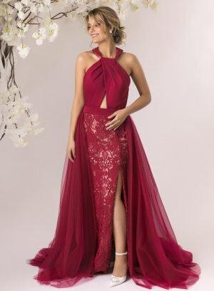 Vestido de Cerimónia Bordeaux