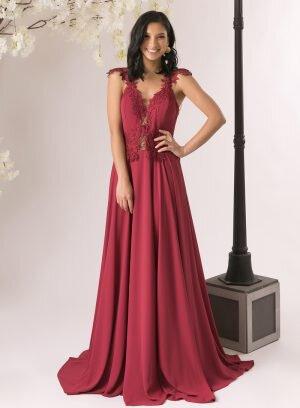 Vestido de Cerimónia em Crepe