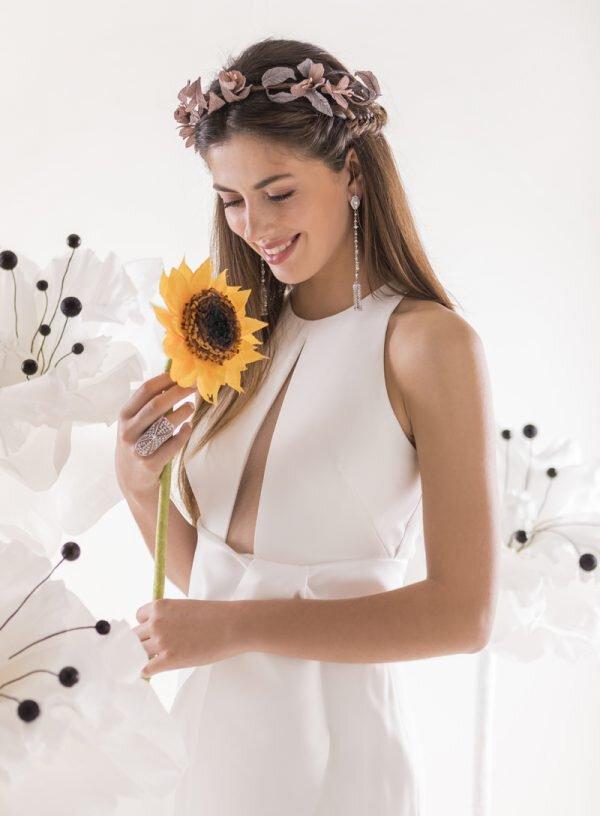 Vestido de noiva fluído