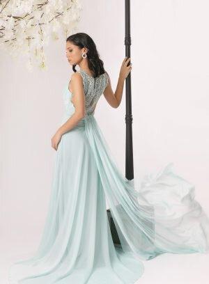 Vestido de cerimónia azul claro