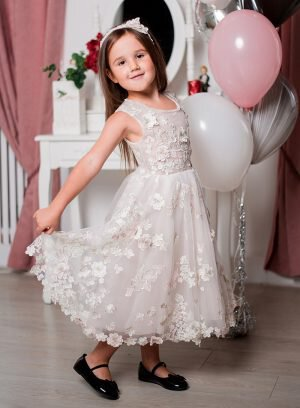 Vestido infantil corte A