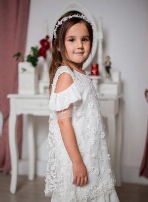 Vestido infantil corte a direito